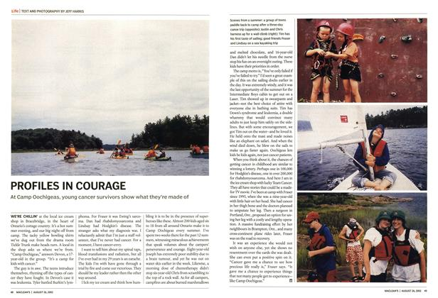 Article Preview: PROFILES IN COURAGE, August 2002 | Maclean's