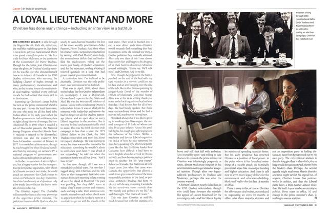 Article Preview: A LOYAL LIEUTENANT AND MORE, September 2002 | Maclean's