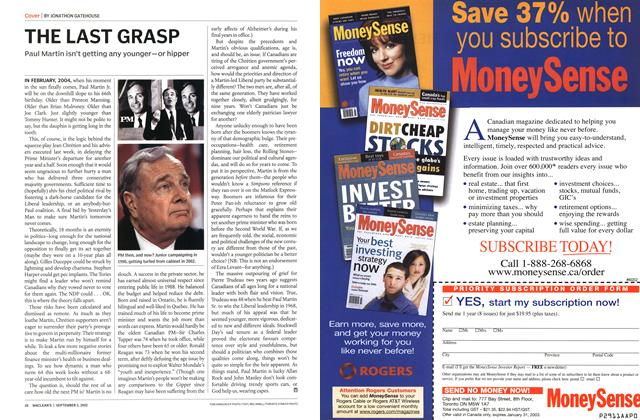 Article Preview: THE LAST GRASP, September 2002 | Maclean's