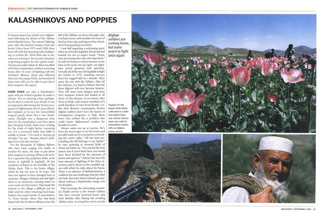 Article Preview: KALASHNIKOVS AND POPPIES, September 2002 | Maclean's