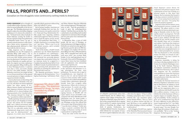 Article Preview: PILLS, PROFITS AND...PERILS?, September 2002 | Maclean's