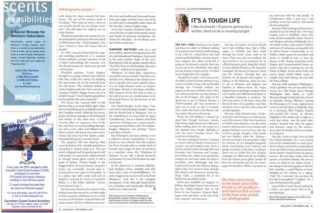 Article Preview: IT'S A TOUGH LIFE, September 2002 | Maclean's