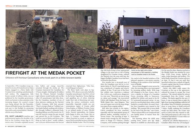 Article Preview: FIREFIGHT AT THE MEDAK POCKET, September 2002 | Maclean's