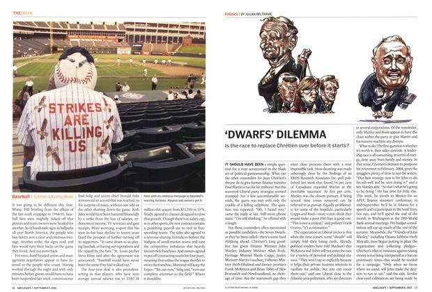 Article Preview: 'DWARFS' DILEMMA, September 2002 | Maclean's