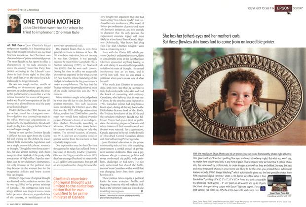 Article Preview: ONE TOUGH MOTHER, September 2002 | Maclean's