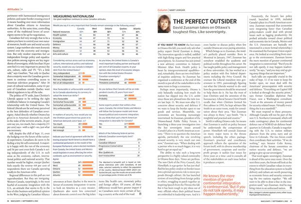Article Preview: THE PERFECT OUTSIDER, September 2002 | Maclean's