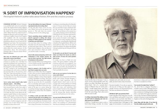 Article Preview: 'A SORT OF IMPROVISATION HAPPENS', September 2002 | Maclean's