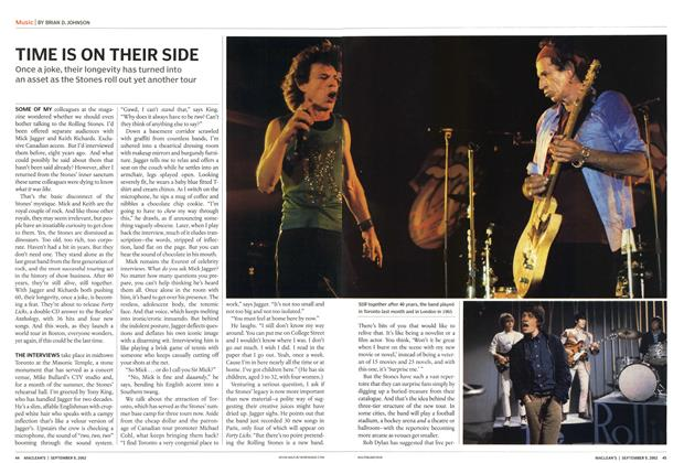 Article Preview: TIME IS ON THEIR SIDE, September 2002 | Maclean's