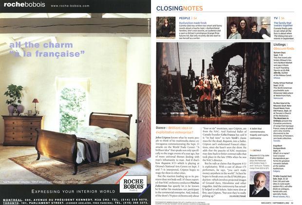 Article Preview: Dance, September 2002   Maclean's