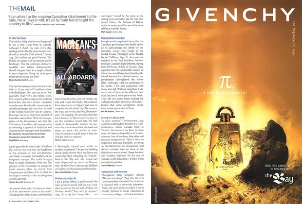 Article Preview: THE MAIL, September 2002   Maclean's