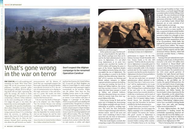Article Preview: What's gone wrong in the war on terror, September 2002 | Maclean's
