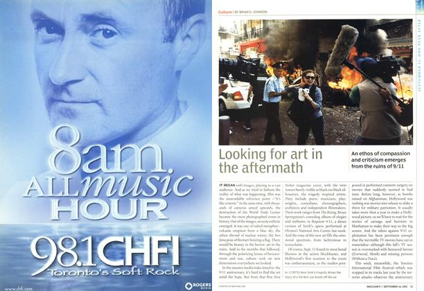 Article Preview: Looking for art in the aftermath, September 2002 | Maclean's