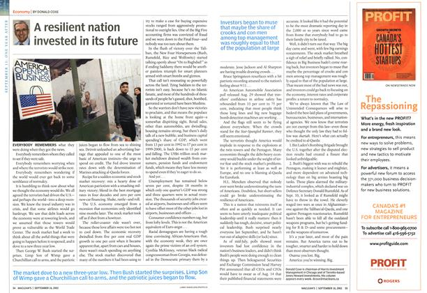 Article Preview: A resilient nation invested in its future, September 2002 | Maclean's