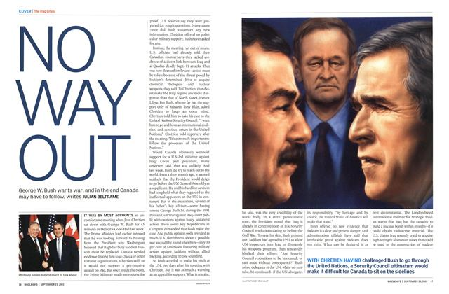 Article Preview: NO WAY OUT, September 2002 | Maclean's