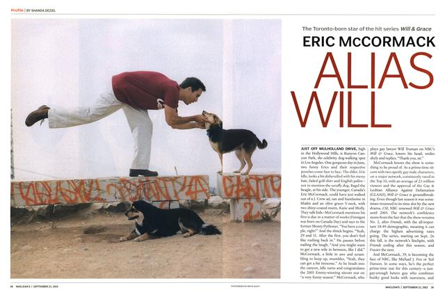 Article Preview: ERIC McCORMACK ALIAS WILL, September 2002 | Maclean's