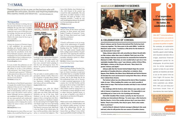 Article Preview: THE MAIL, September 2002 | Maclean's