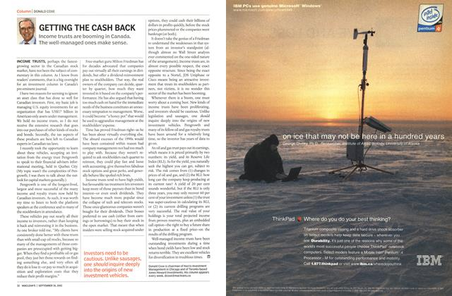 Article Preview: GETTING THE CASH BACK, September 2002 | Maclean's