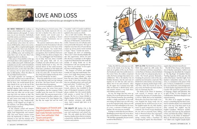 Article Preview: LOVE AND LOSS, September 2002 | Maclean's