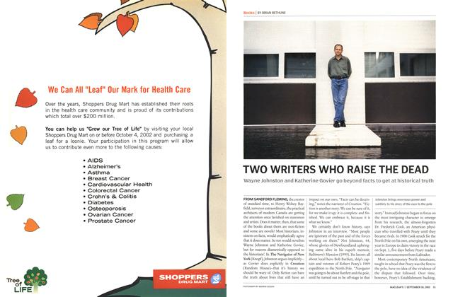 Article Preview: TWO WRITERS WHO RAISE THE DEAD, September 2002 | Maclean's