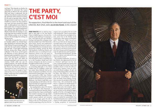 Article Preview: THE PARTY, C'EST MOI, October 2002 | Maclean's