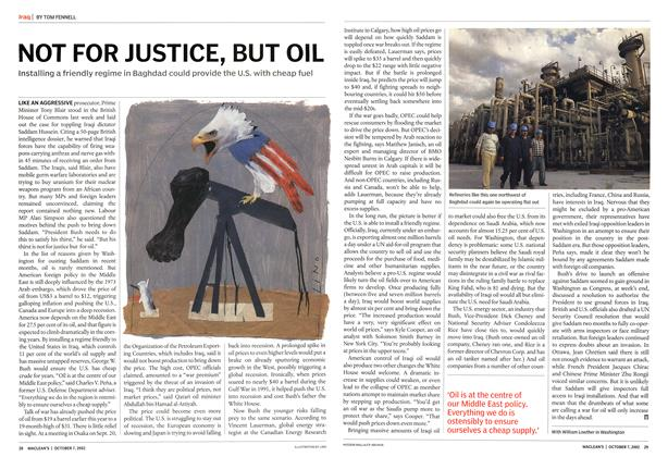 Article Preview: NOT FOR JUSTICE, BUT OIL, October 2002 | Maclean's
