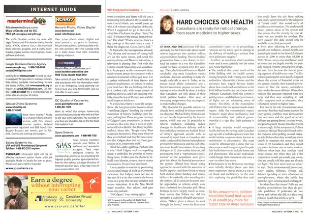 Article Preview: HARD CHOICES ON HEALTH, October 2002 | Maclean's