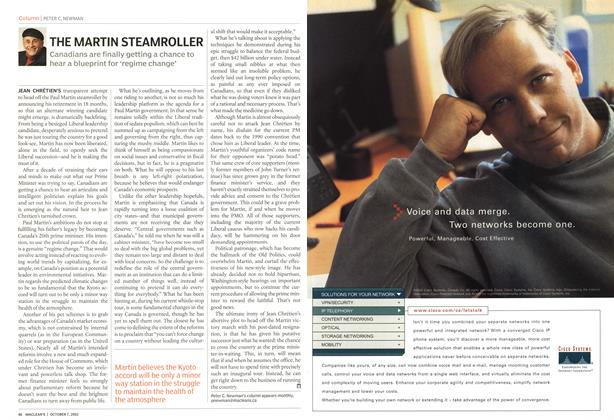 Article Preview: THE MARTIN STEAMROLLER, October 2002 | Maclean's