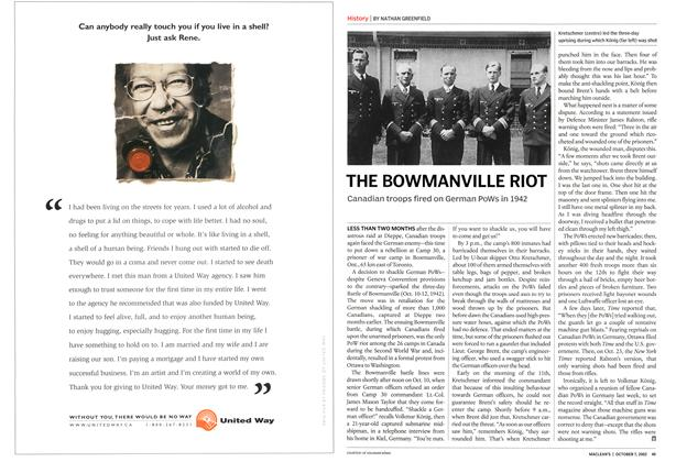 Article Preview: THE BOWMANVILLE RIOT, October 2002 | Maclean's