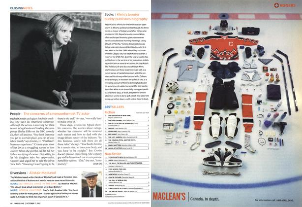 Article Preview: BEST SELLERS, October 2002 | Maclean's