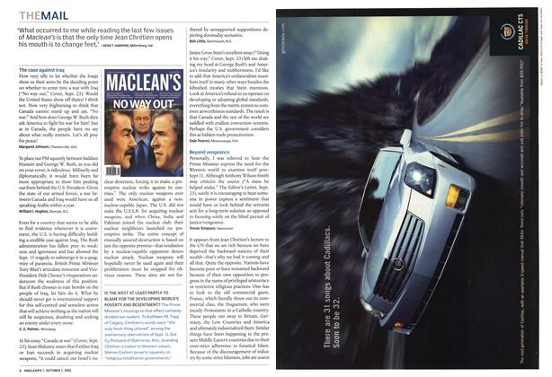 Article Preview: THE MAIL, October 2002 | Maclean's