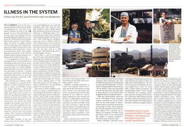 Article Preview: ILLNESS IN THE SYSTEM, October 2002   Maclean's