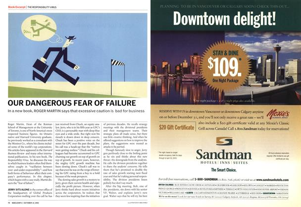 Article Preview: OUR DANGEROUS FEAR OF FAILURE, October 2002 | Maclean's