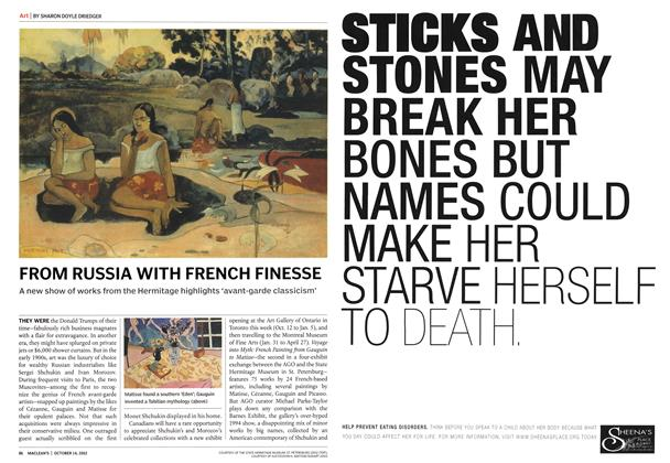 Article Preview: FROM RUSSIA WITH FRENCH FINESSE, October 2002 | Maclean's