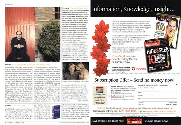 Article Preview: Review, October 2002 | Maclean's