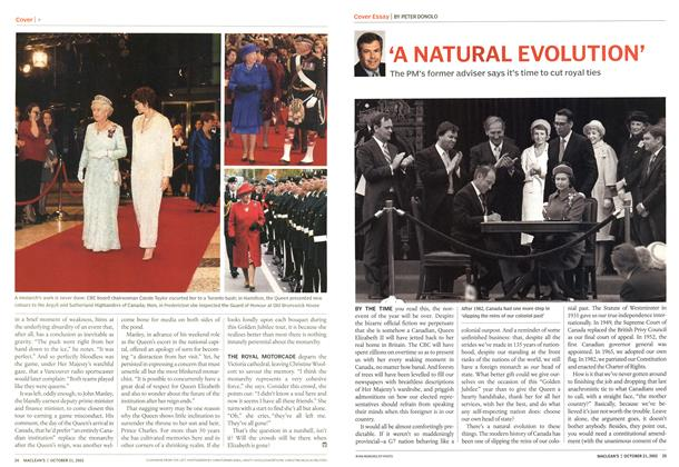 Article Preview: 'A NATURAL EVOLUTION', October 2002 | Maclean's