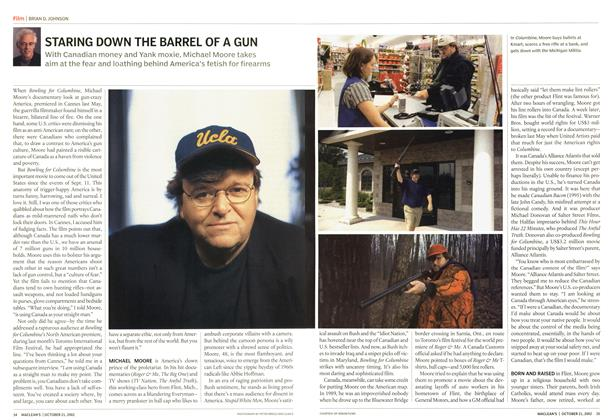 Article Preview: STARING DOWN THE BARREL OF A GUN, October 2002   Maclean's