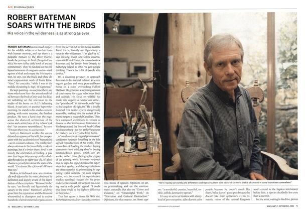 Article Preview: ROBERT BATEMAN SOARS WITH THE BIRDS, October 2002 | Maclean's