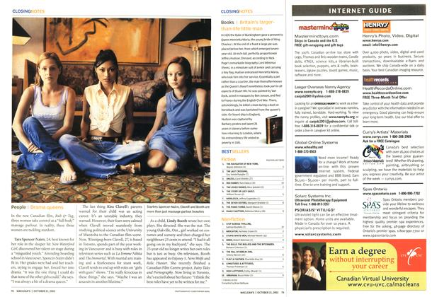 Article Preview: BESTSELLERS, October 2002 | Maclean's