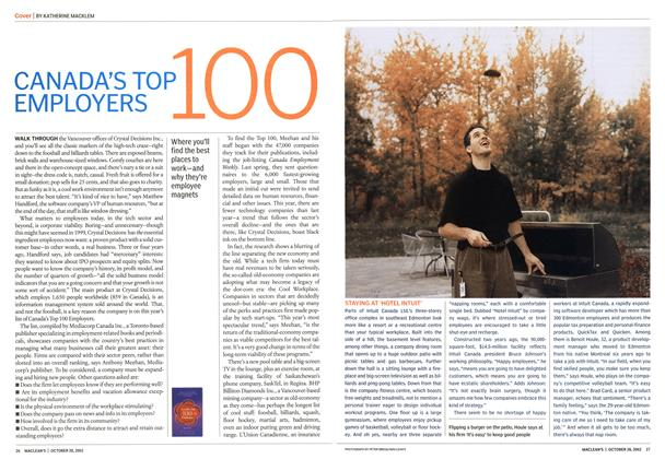 Article Preview: CANADA'S TOP 100 EMPLOYERS, October 2002 | Maclean's
