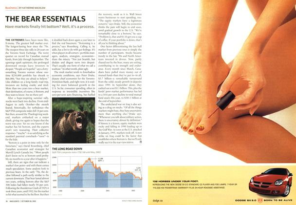 Article Preview: THE BEAR ESSENTIALS, October 2002 | Maclean's