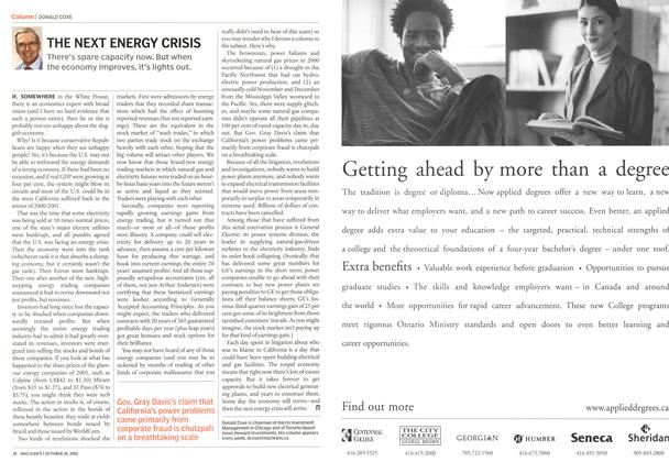 Article Preview: THE NEXT ENERGY CRISIS, October 2002 | Maclean's