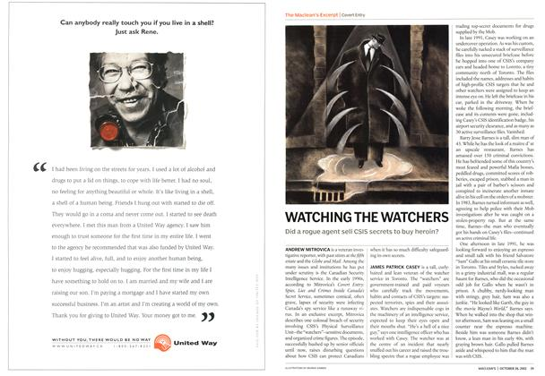Article Preview: WATCHING THE WATCHERS, October 2002 | Maclean's