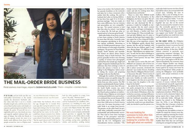 Article Preview: THE MAIL-ORDER BRIDE BUSINESS, October 2002 | Maclean's