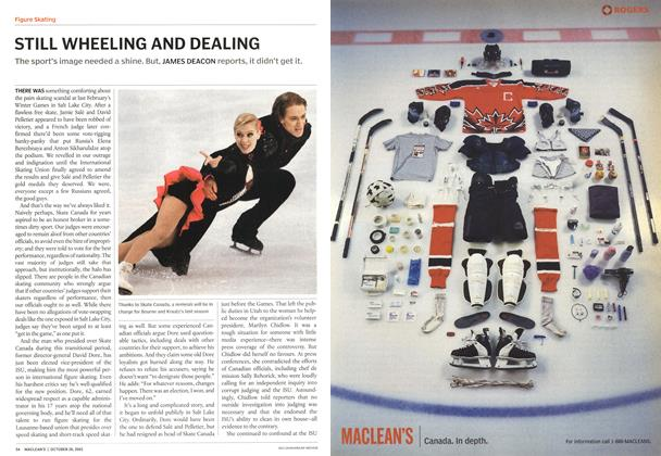Article Preview: STILL WHEELING AND DEALING, October 2002 | Maclean's