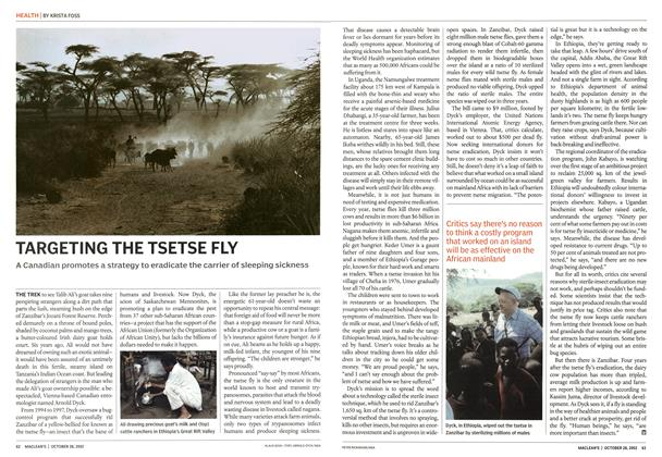 Article Preview: TARGETING THE TSETSE FLY, October 2002 | Maclean's
