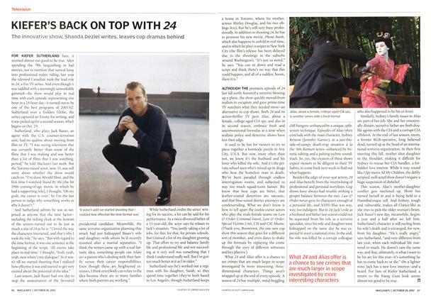 Article Preview: KIEFER'S BACK ON TOP WITH 24, October 2002 | Maclean's