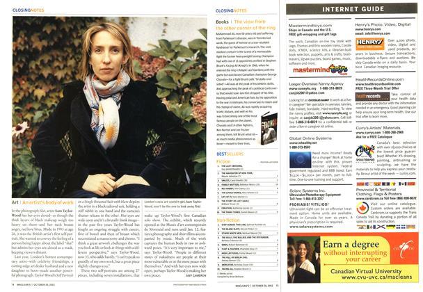 Article Preview: Art, October 2002 | Maclean's