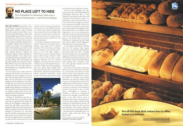 Article Preview: NO PLACE LEFT TO HIDE, October 2002   Maclean's