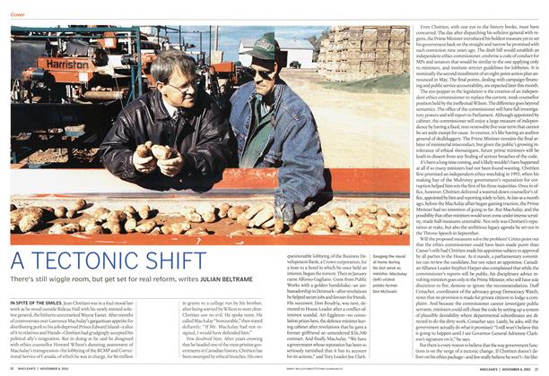 Article Preview: A TECTONIC SHIFT, November 2002 | Maclean's