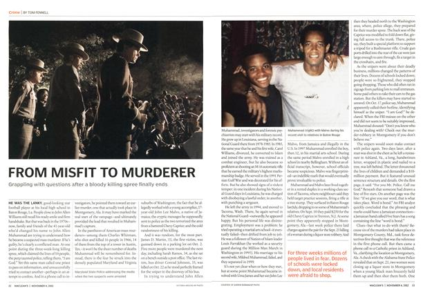 Article Preview: FROM MISFIT TO MURDERER, November 2002 | Maclean's